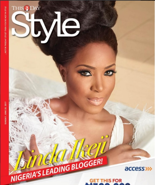 Linda ikeji covers This Day Style