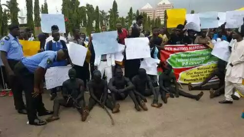 FCT natives staged protest In Abuja
