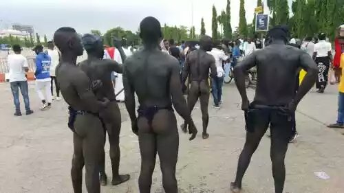 Abuja natives staged protest