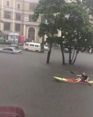 flood in lagos; lekki, VI and lagos Island